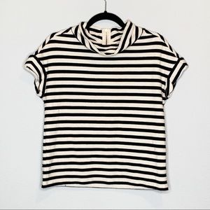Anthropologie Postal Tag black and cream top small